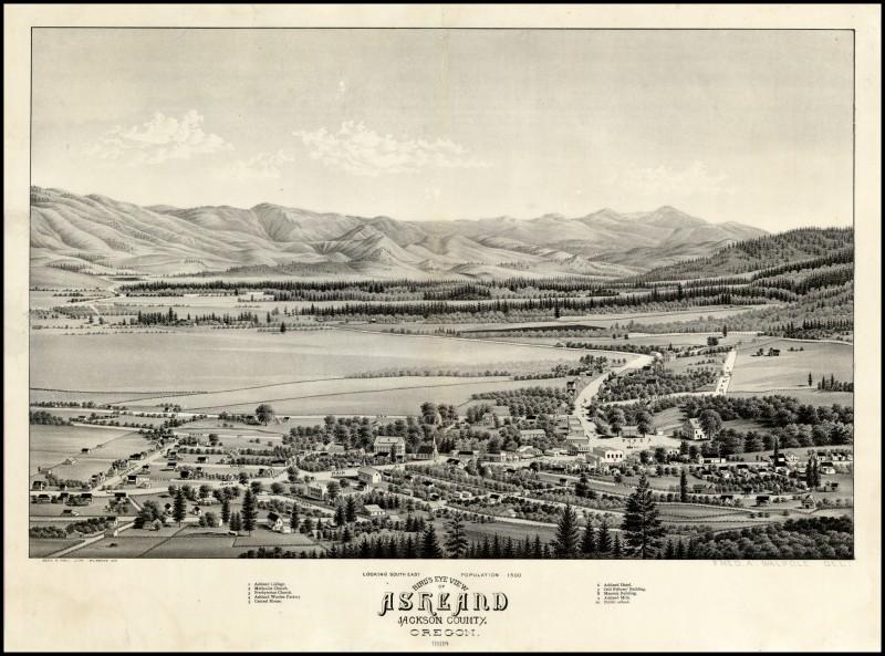 vintage historical photos ashland oregon classic old maps