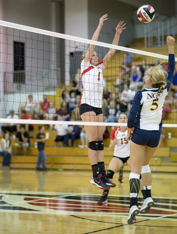 SOU volleyball - Lauren McGowne