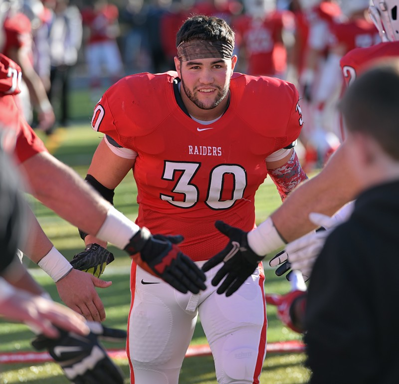 SOU football senior day Laurence Calcagno