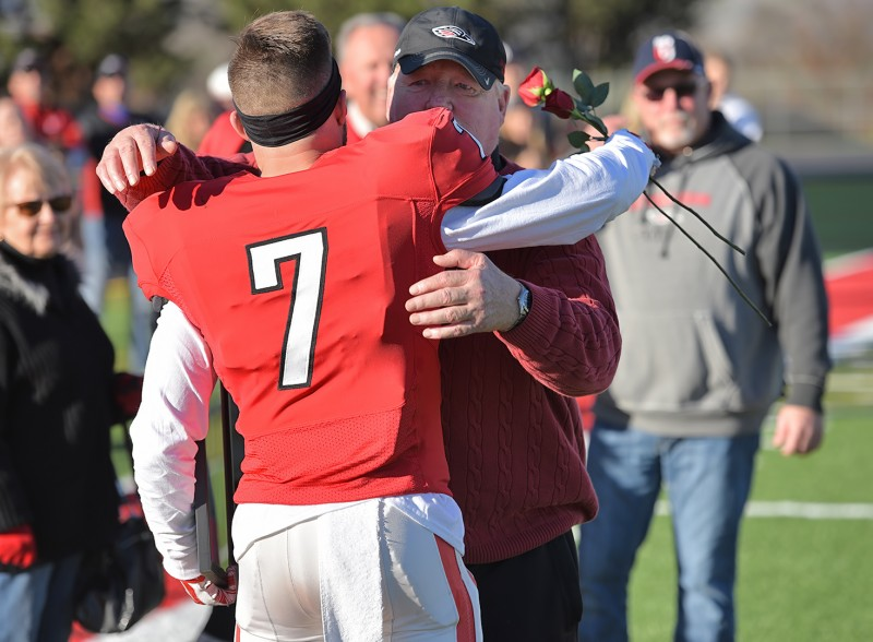 SOU football senior day dustin fretwell
