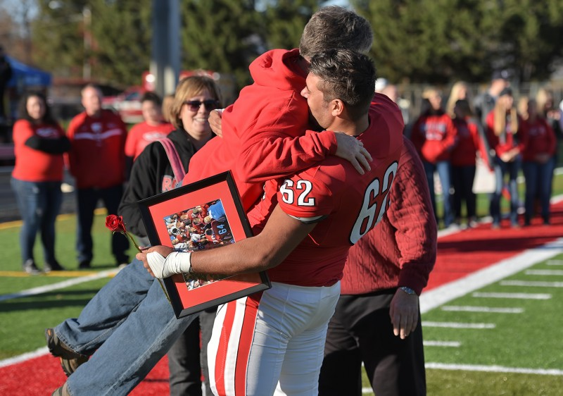 SOU football senior day Michael Bryant