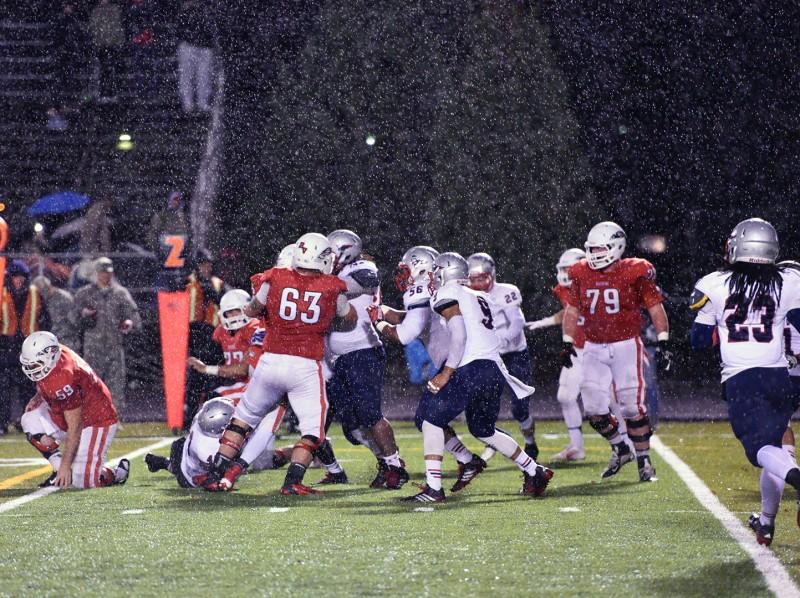 SOU football rain