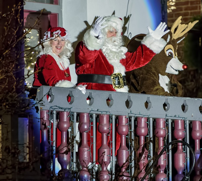 Mrs. Claus, Santa Claus, and Rudolph at Brickroom (formerly Alex's)