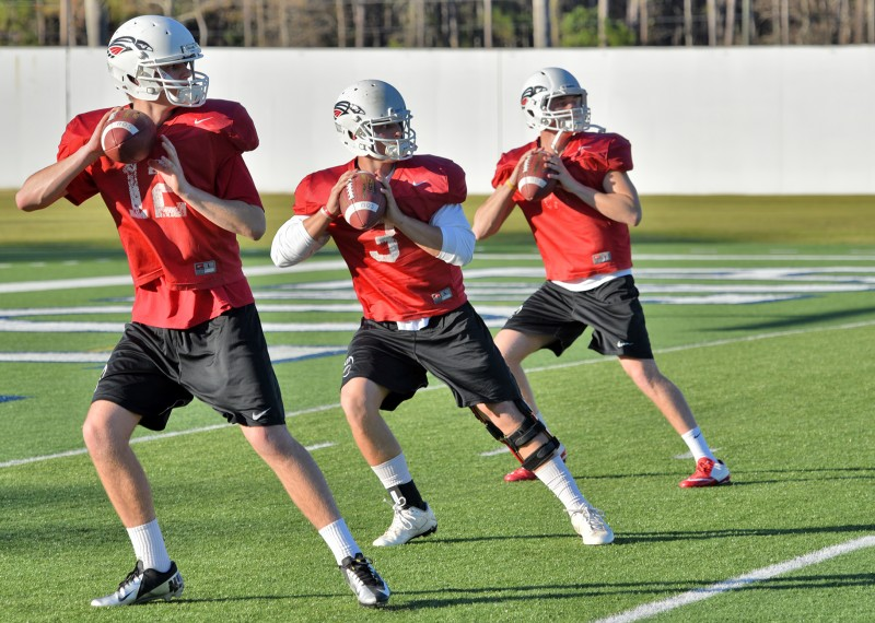 SOU football daytona practice qbs