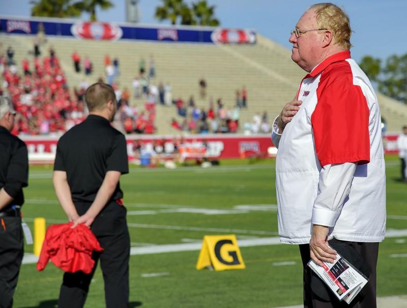 sou football daytona coach howard national anthem
