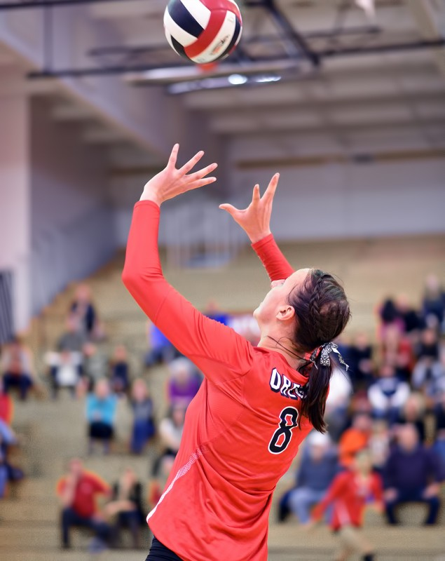 SOU volleyball Tyana Andrews