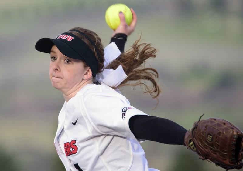 SOU softball Cheyenne Bricker