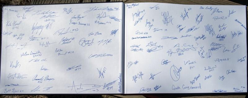 SOU football awards brunch autographs
