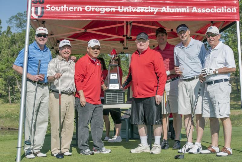 SOU raider red zone golf shootout team coach howard president roy saigo