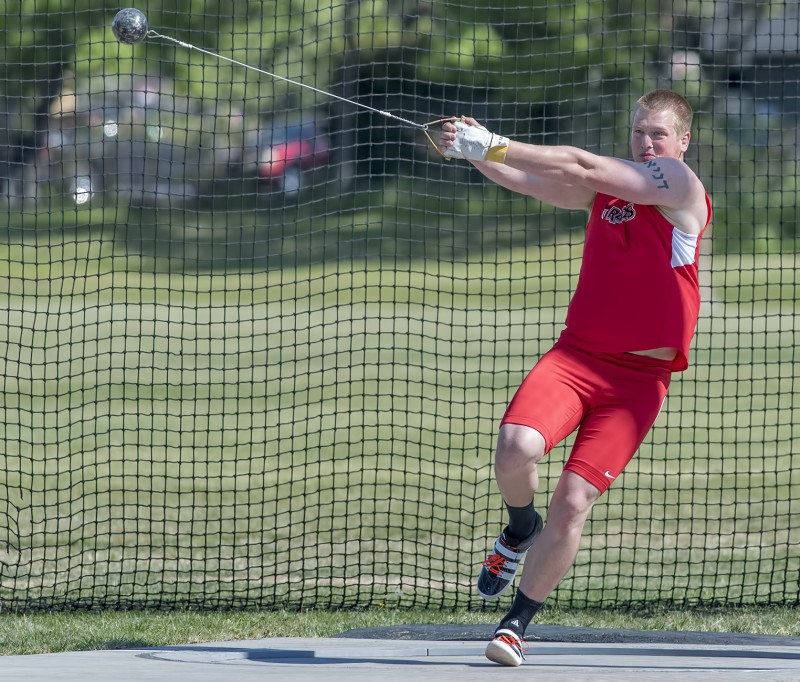 CCC track and field Danny Parks hammer discus throw