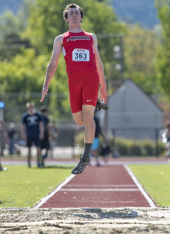 CCC track and field Hayden Saparto