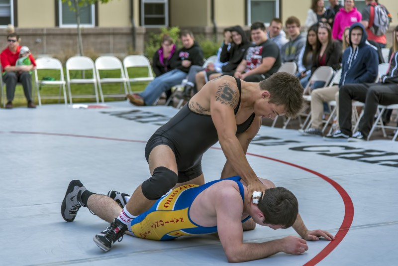 SOU Wrestling annual outdoor spring dual tim tsukanov scottie stockman
