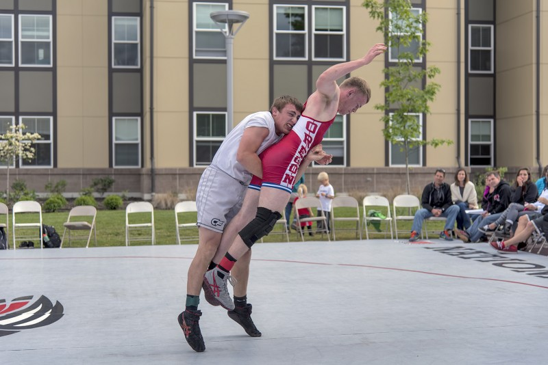 SOU wrestling annual outdoor spring dual chris moreno luke o'oconnor