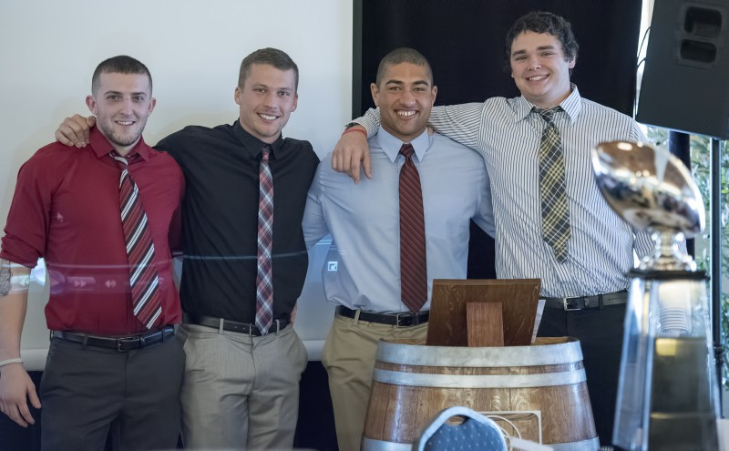SOU football awards brunch dylan young austin dodge drew gibson daniel breaux all americans