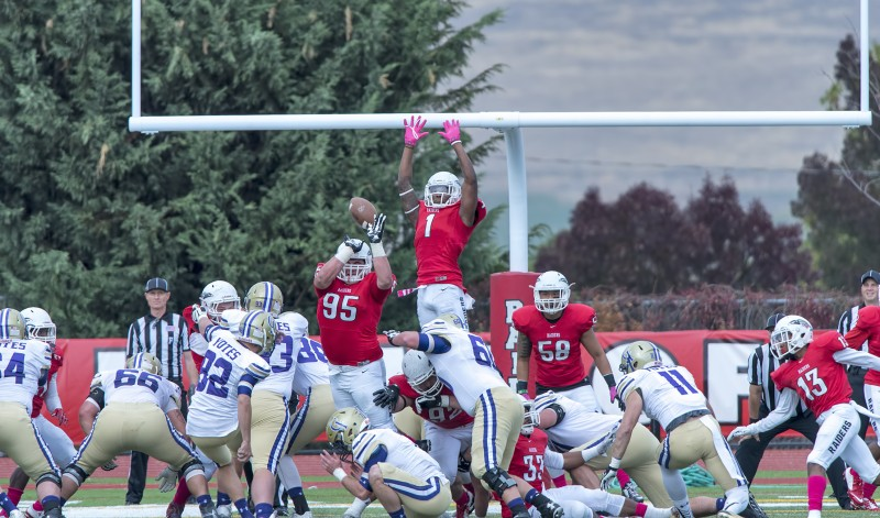 sou football Sam Woods Julius Rucker blocked extra point