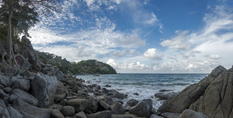 photomerge panorama sayulita beach dead