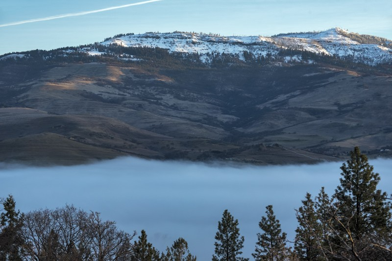 grizzly peak fog snow ashland oregon