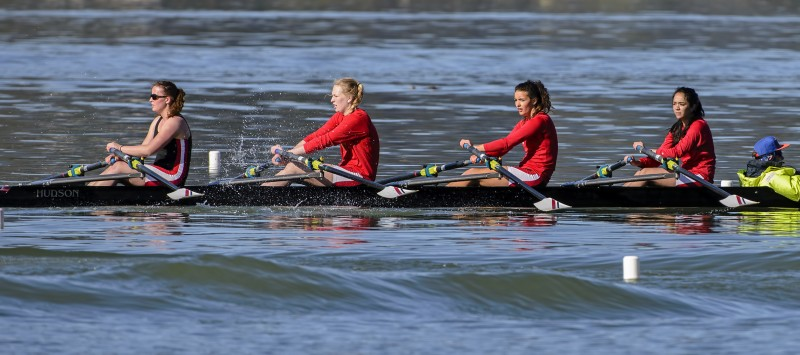 Covered Bridge AHS Ashland Rowing Club Crew Karen Bach Ellie Liv Kara