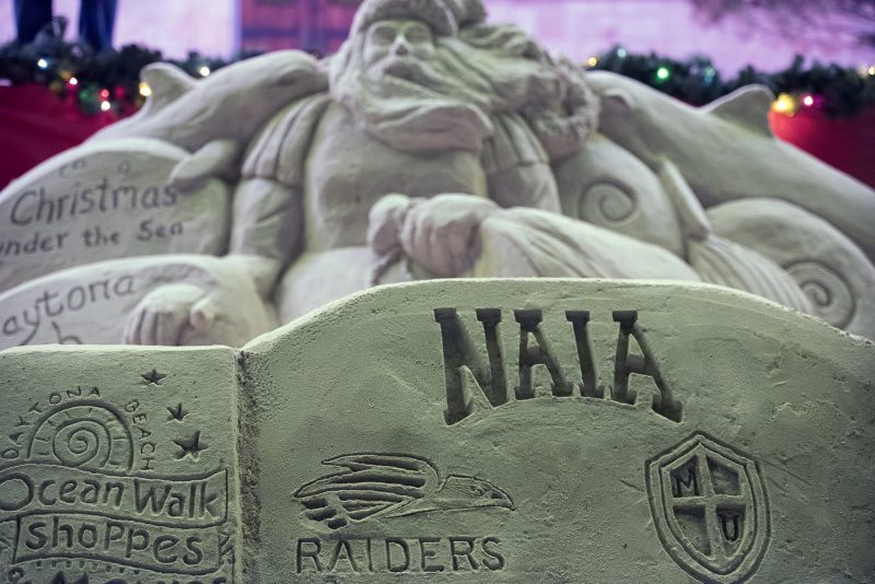 SOU football daytona pep rally sand sculpture