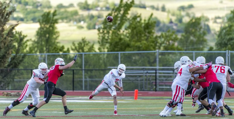 sou football red white game tanner trosin connor astley jose sanchez