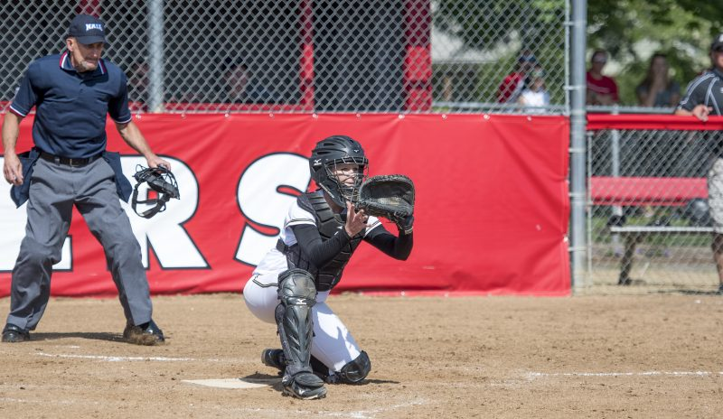 sou softball oit catcher blocking obstructing home plate