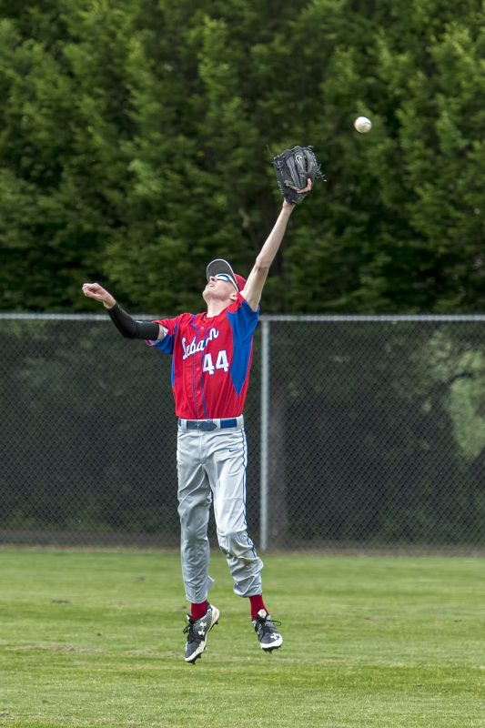 ahs baseball matt o'donnell triple over lebanon outfielder