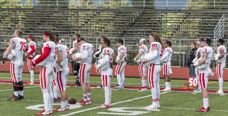 sou-football-red-white-game-zack-davis-connor-astley-nathan-torres-walker-colin-davis-kyle-alexander