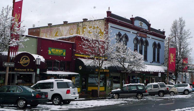the black sheep ashland oregon plaza snow