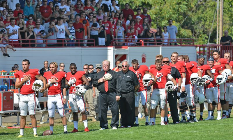 SOU football national anthem coach howard