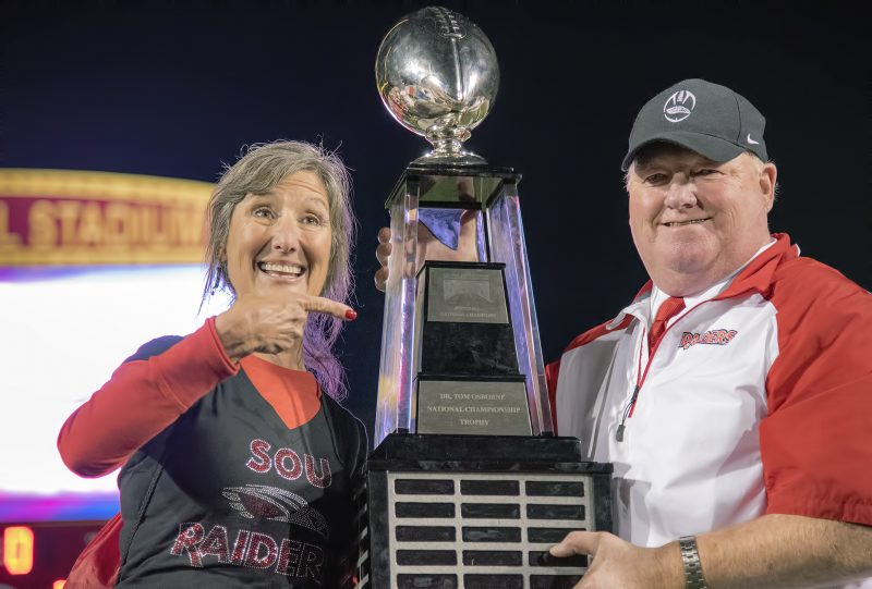 SOU football daytona coach howard jane trophy