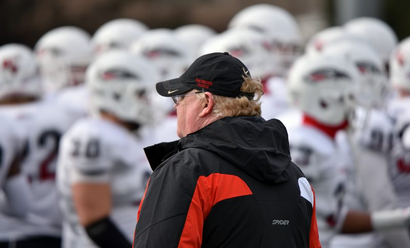SOU football team coach howard