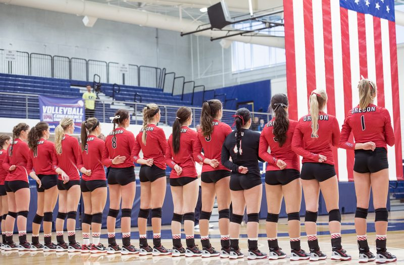 sou volleyball american flag