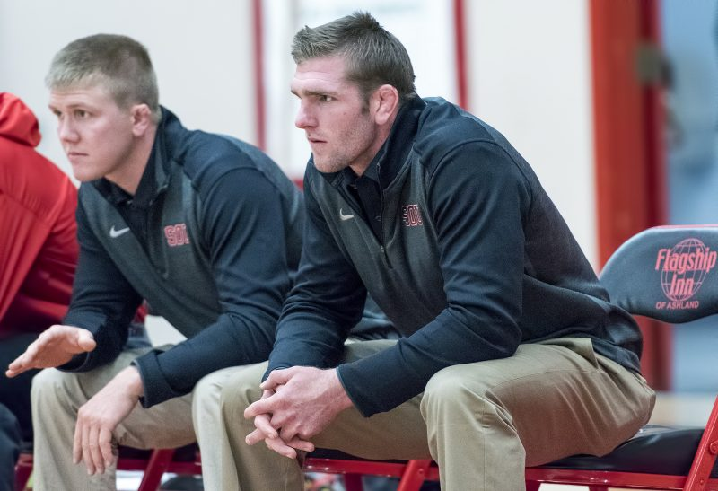 sou mens wrestling coaches brock gutches ryan mcwatters