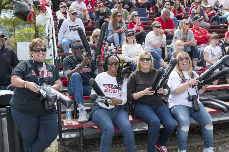 sou softball crowd