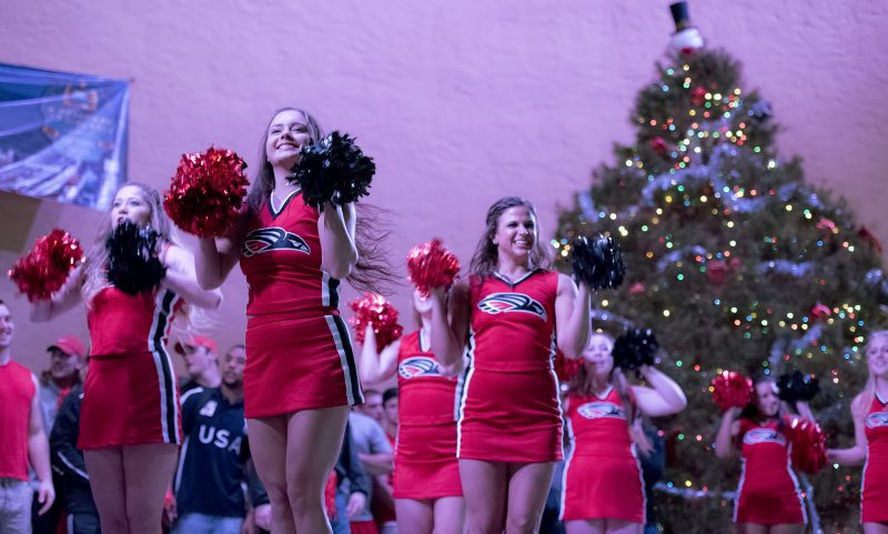 SOU football daytona pep rally cheer