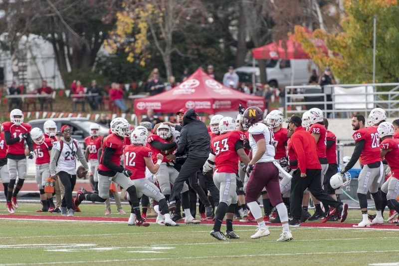 sou football toyota tent keegan lawrence interception celebration