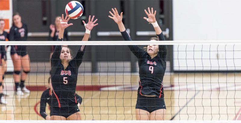 sou volleyball elliot cook ariana sattler