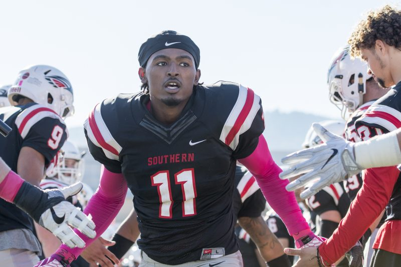 sou football senior day isiah carter