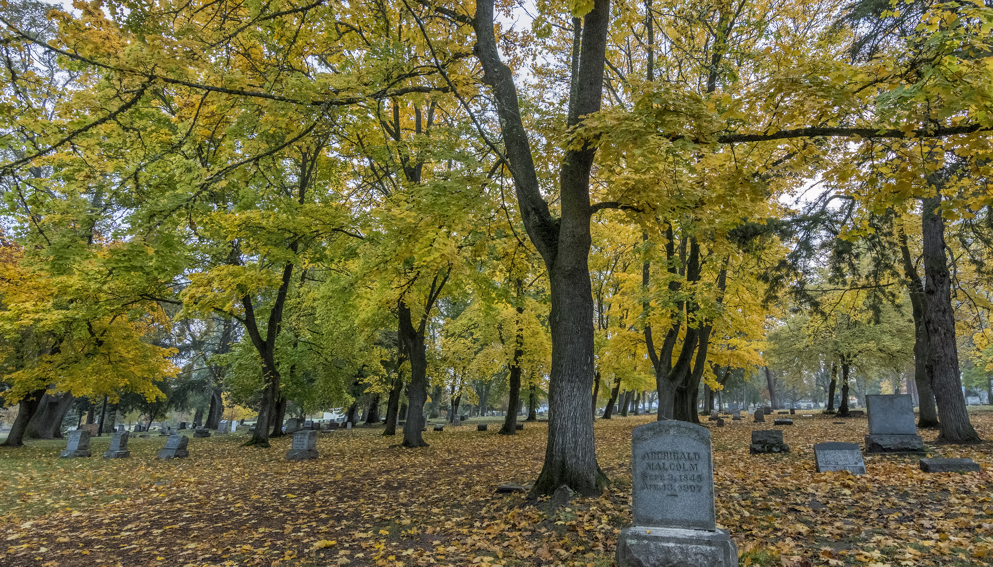 archibald malcolm mountain view cemetery ashland oregon fall autumn
