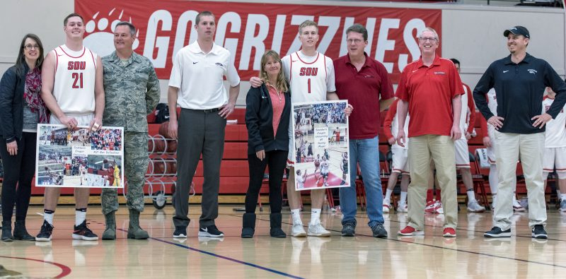 sou mens basketball ben desaulnier kenny meyer senior night