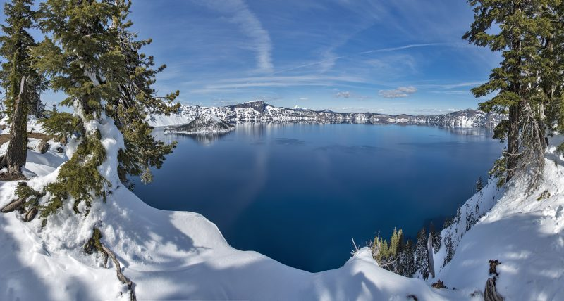 9-photo photomerge crater lake snow