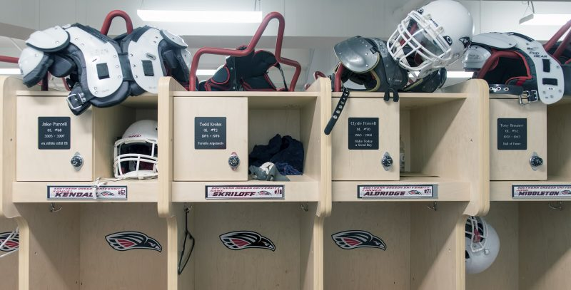 sou football locker room jake purcell samuel kendall todd krohn dane skriloff clyde powell tanner aldridge tony brauner josh middleton