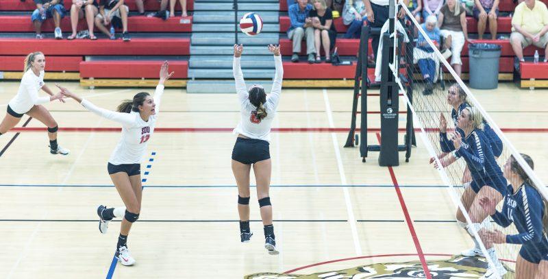 sou volleyball Hannah Bogatin Makayla Hoyt Malie Rube