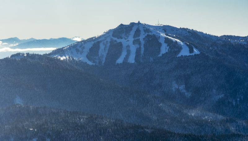 mt ashland snow winter aerial