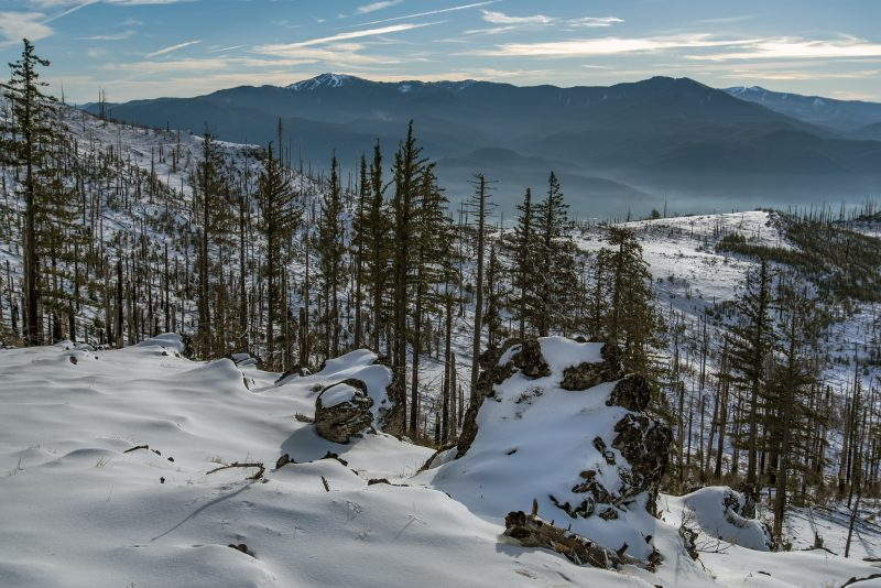 grizzly peak winter snow mt ashland wagner butte
