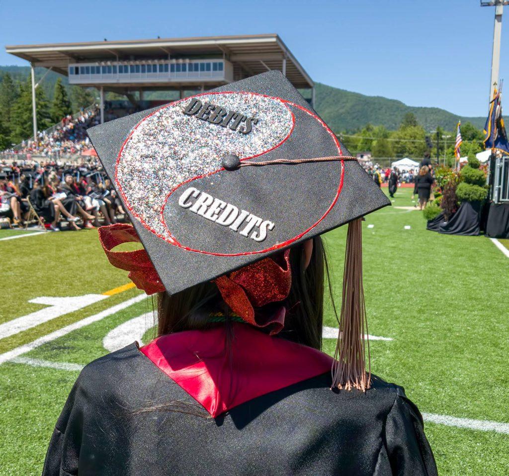 accounting debits credits yin yang graduation cap decoration ideas