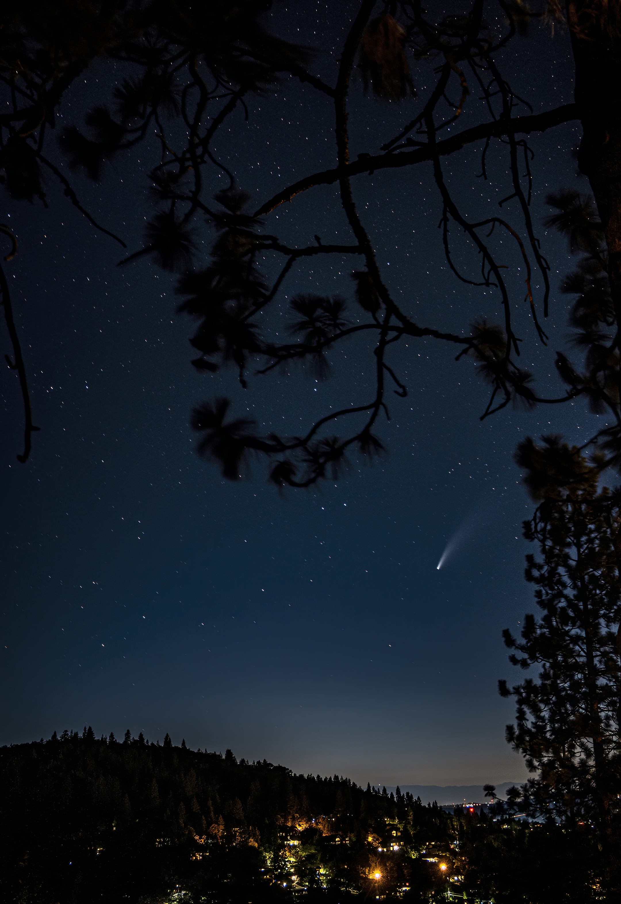 comet NEOWISE topaz denoise ai-denoise