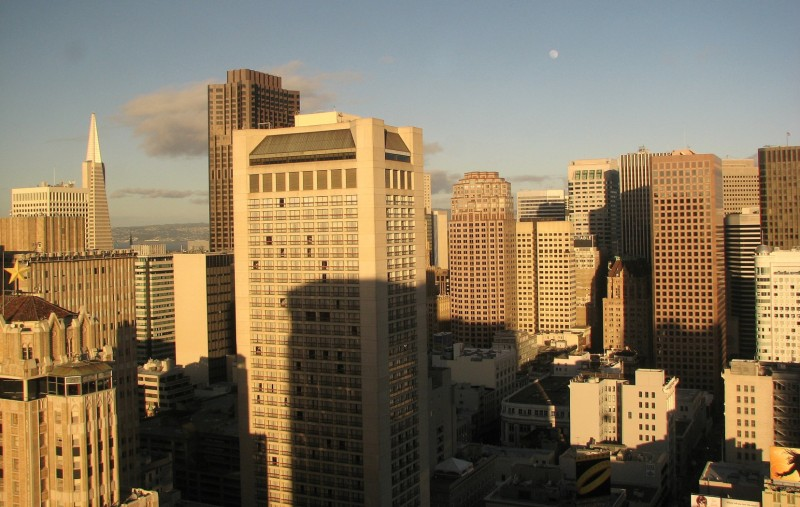 Downtown San Francisco from the St. Francis Hotel
