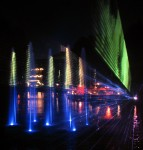 Lasers and fountains and color and ...