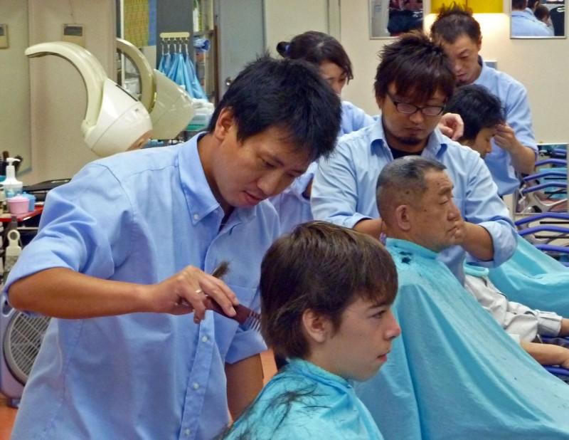 hair cut barber japan